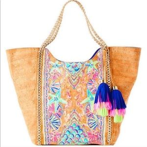 Lilly Pulitzer Multi Undersea Cork Tote